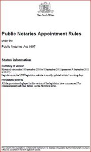 public notaries appointment rules nsw